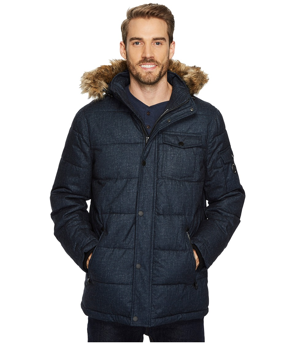 Nautica - Poly Hooded Parka (Blue) Men's Coat