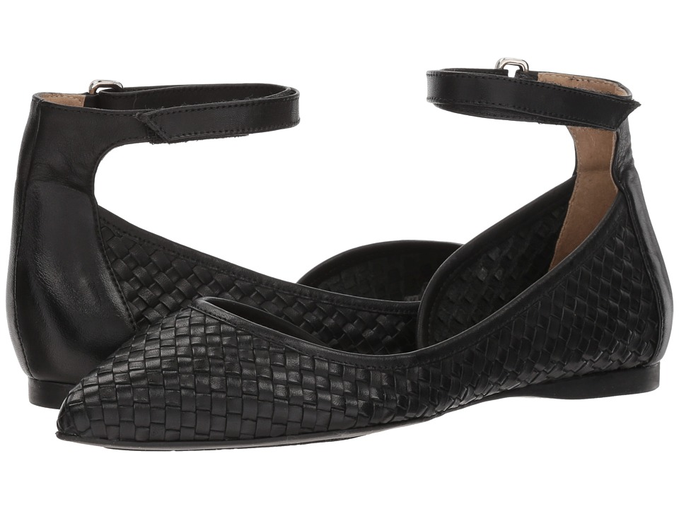 French Sole Adrienne (Black Woven Leather) Women