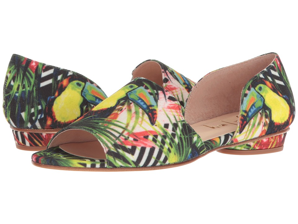French Sole Beguile (Green Jungle Print) Women