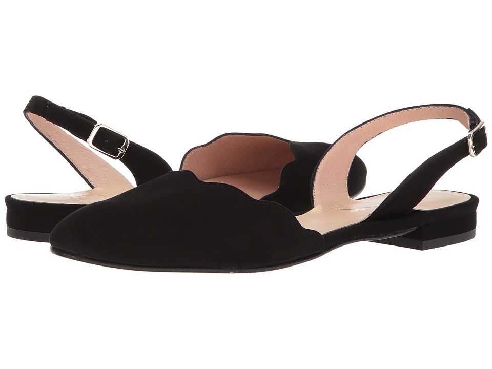 French Sole Book (Black Suede) Women