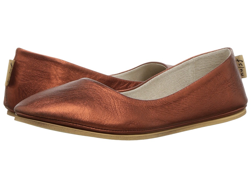 French Sole Sloop Flat (Copper Silk Nappa) Women