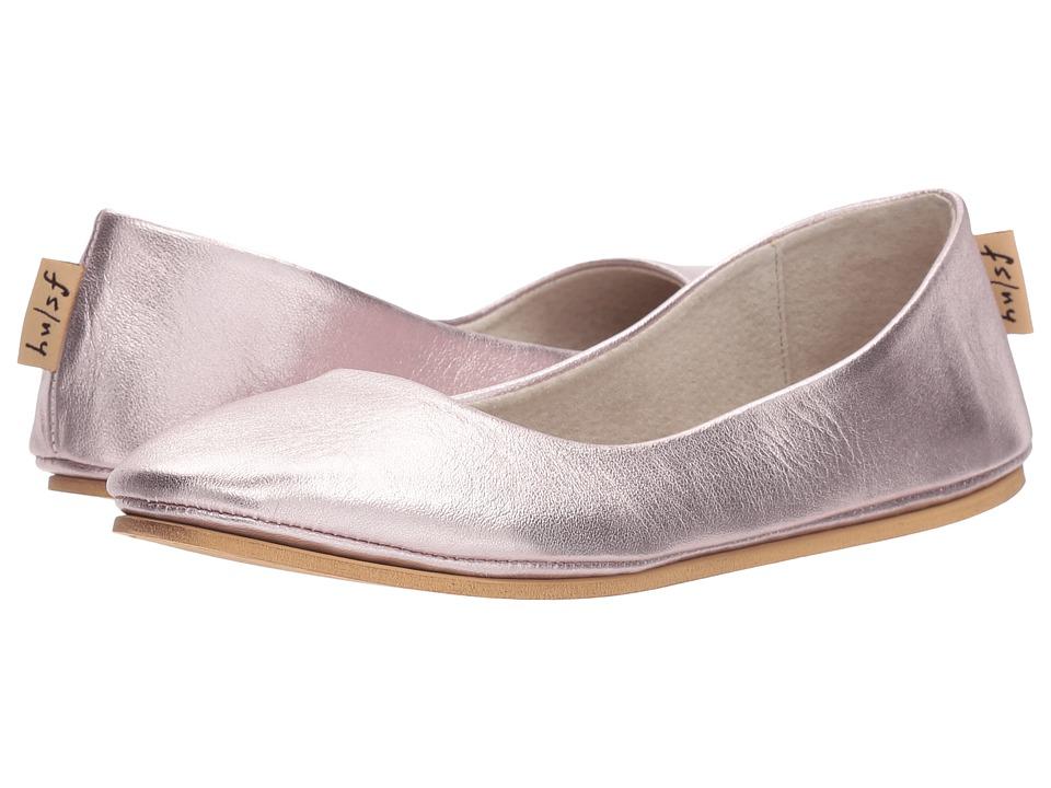 French Sole Sloop Flat (Rose Gold Silk Nappa) Women