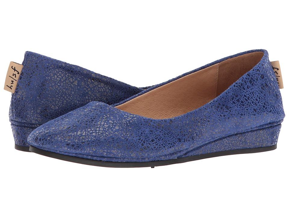 French Sole Zeppa Flat (Blue Swirl Print) Women