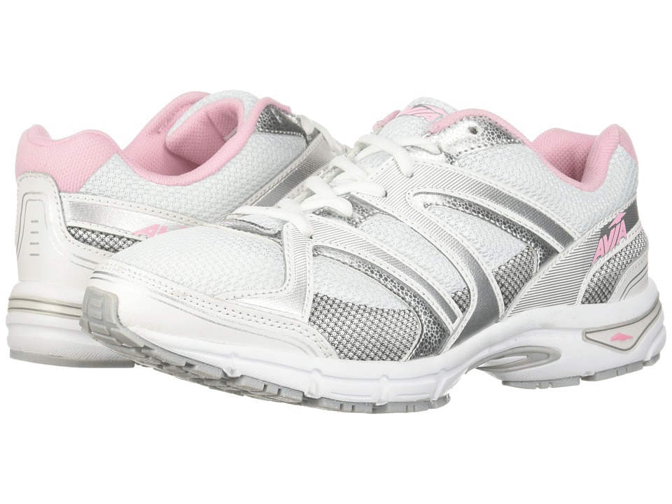 Avia Avi-Execute II (White/Chrome Silver/Tickle Pink) Women
