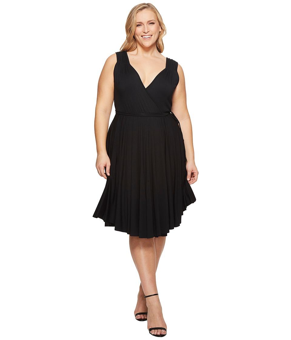 Rachel Pally Plus Size Nella Dress White Label (Black) Women