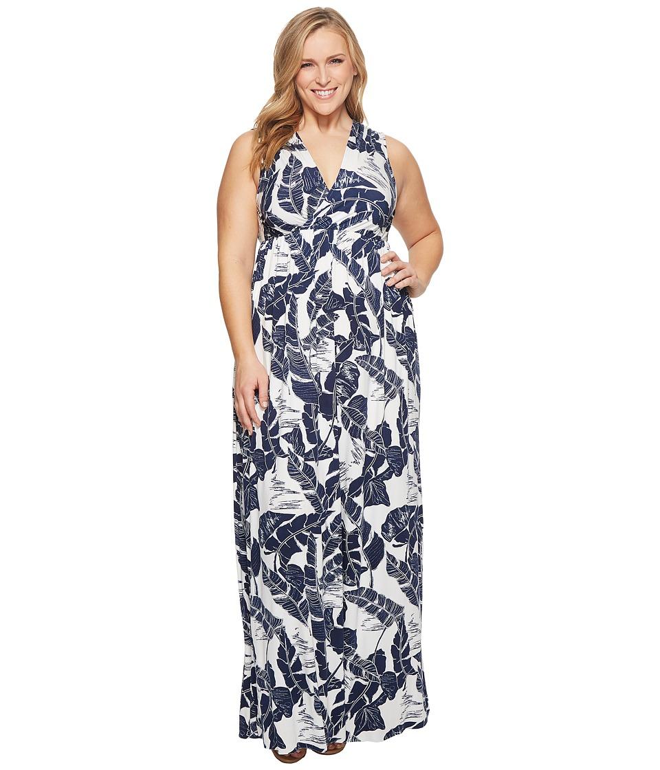 Rachel Pally Plus Size Morning Dress White Label (Palma Print) Women