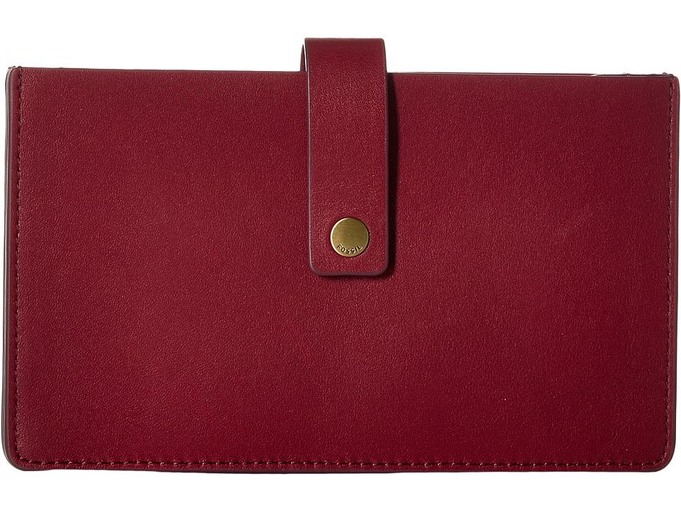 Fossil - Vale Tab Wallet (Raspberry Wine) Wallet Handbags