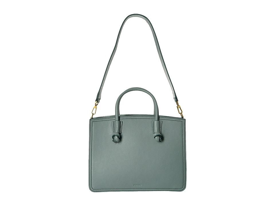 Fossil - Skyler Satchel (Steel Blue) Satchel Handbags