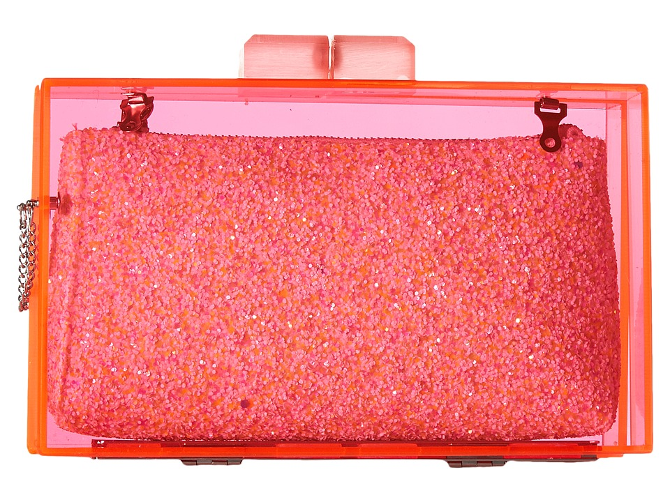 Circus by Sam Edelman Keller Evening Clutch (Pink/White Glitter) Clutch Handbags