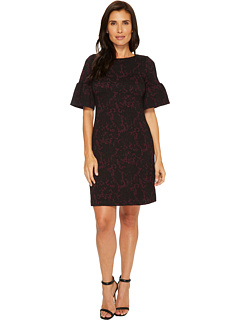 Novelty Knit Bell Sleeve Dress by Ivanka Trump