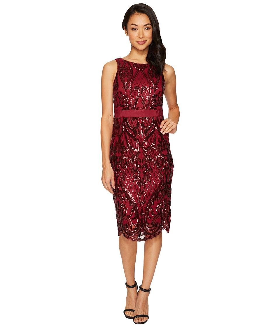 Adrianna Papell Sequin Cocktail Dress (Cranberry) Women