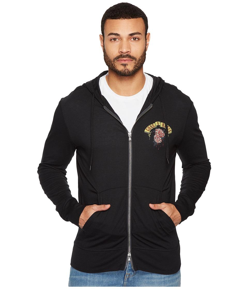 John Varvatos Star U.S.A. Guns N Roses Graphic Hoodie (Black) Men's Sweatshirt