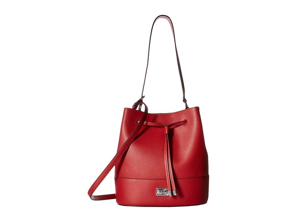 LAUREN Ralph Lauren - Hornsby Drawstring Medium (Red) Cross Body Handbags