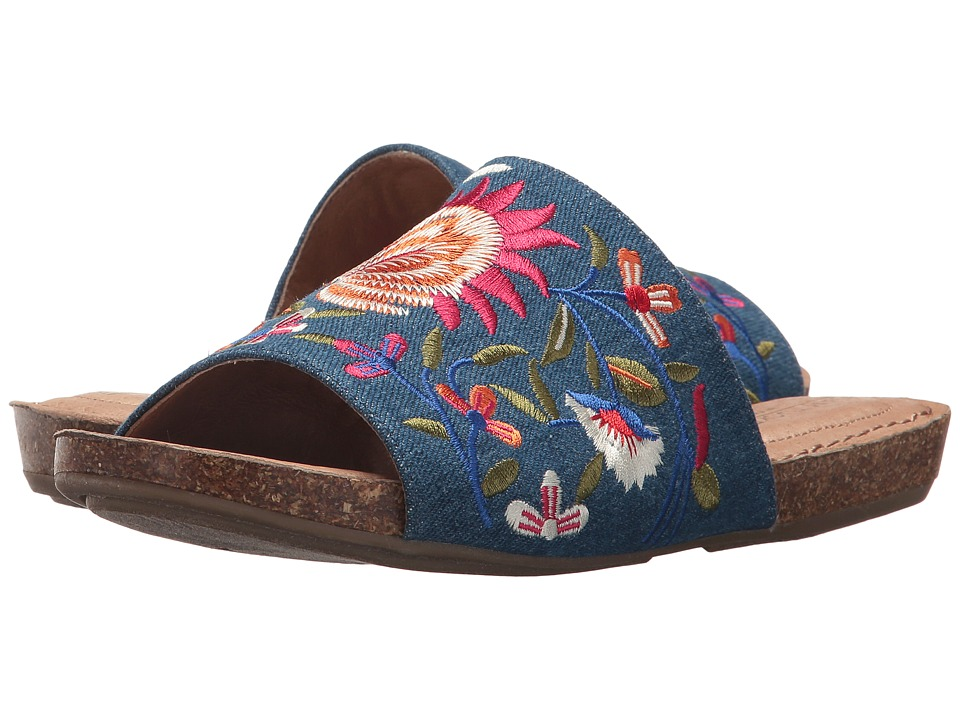 Me Too Nella (Blue Floral Embroidered Denim) Women