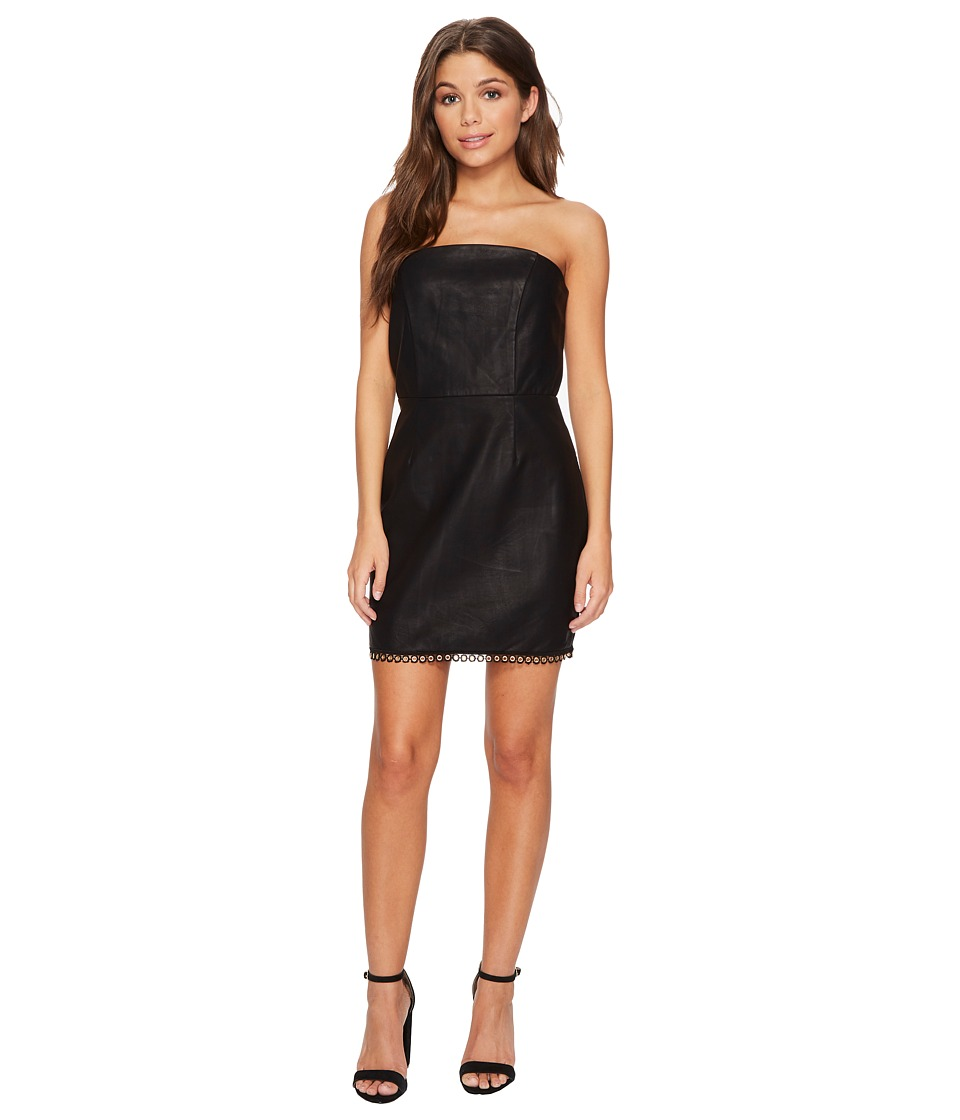 MINKPINK Mon Cherie Pu Strapless Dress (Black) Women