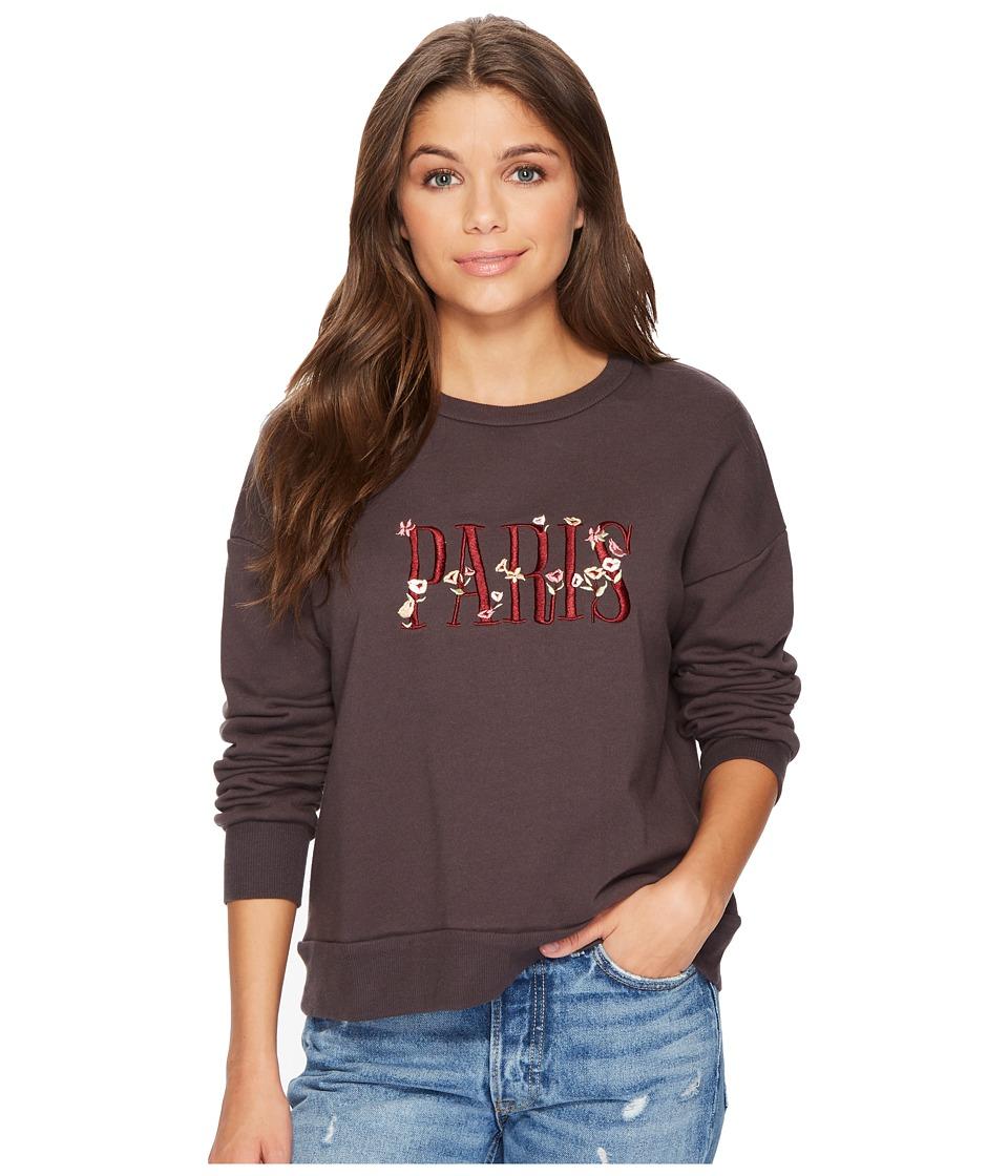 MINKPINK Paris Sweatshirt (Charcoal) Women