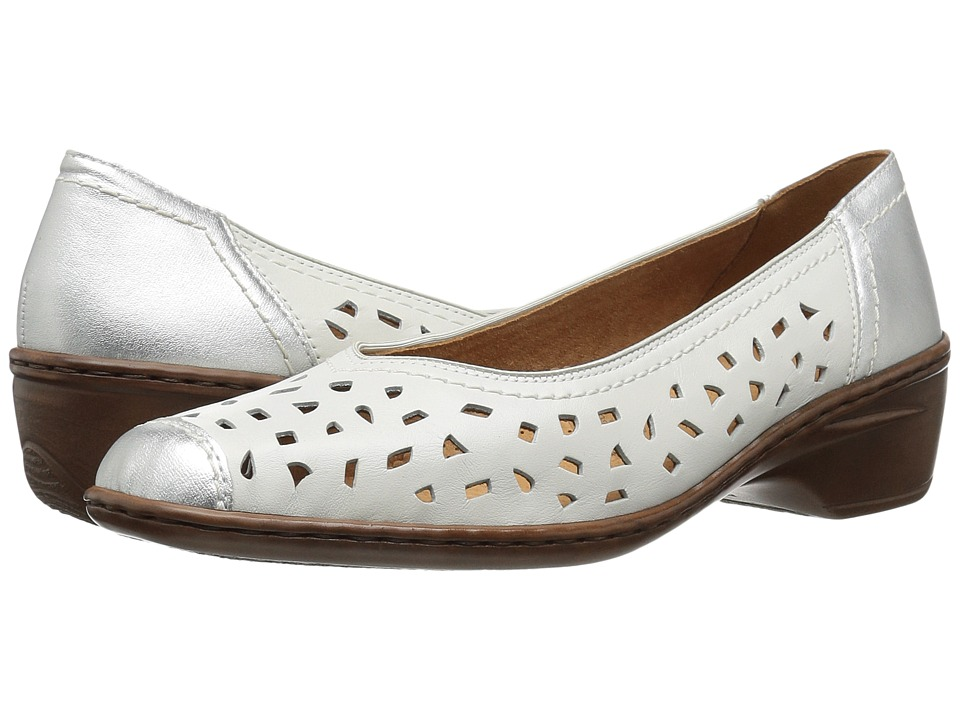 ara Rashida (White/Silver Leather Combo) Women