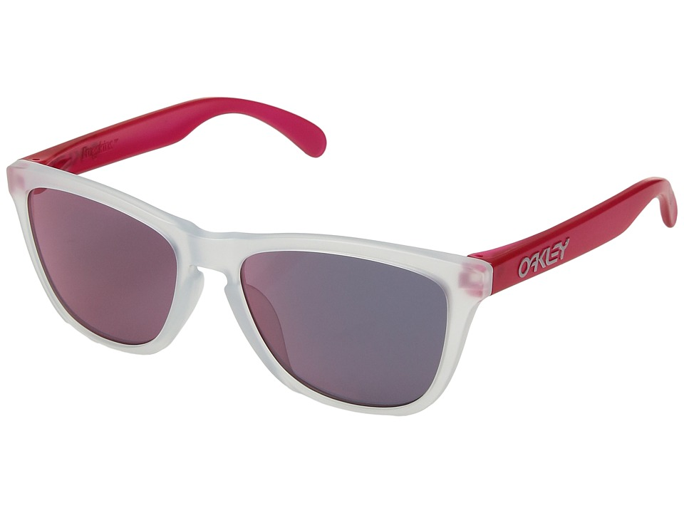 Oakley - Frogskins (A) (Matte Clear/Matte Pink/Iridium) Fashion Sunglasses