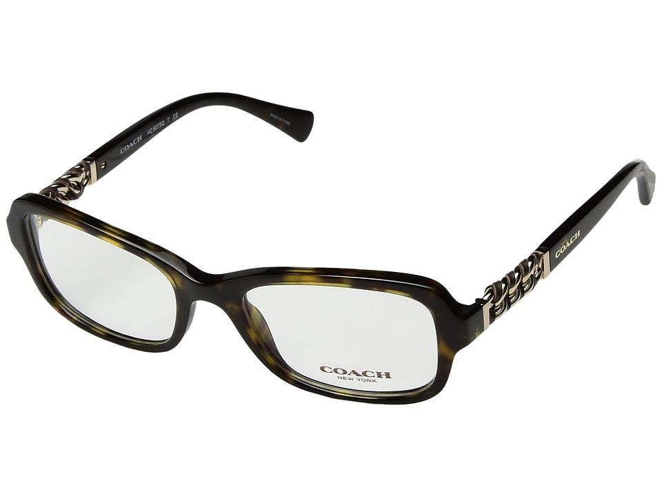 COACH - 0HC6075Q (Dark Tortoise 1) Fashion Sunglasses
