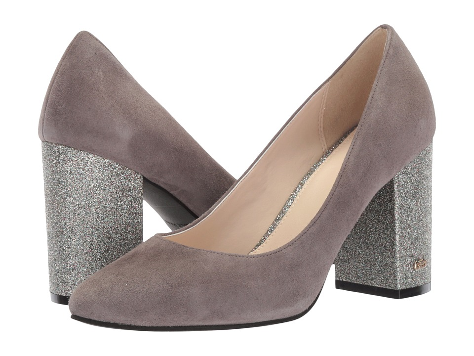 Cole Haan - Alanna Pump 85mm (Stormcloud Suede/Grey Glitter) Women's Shoes