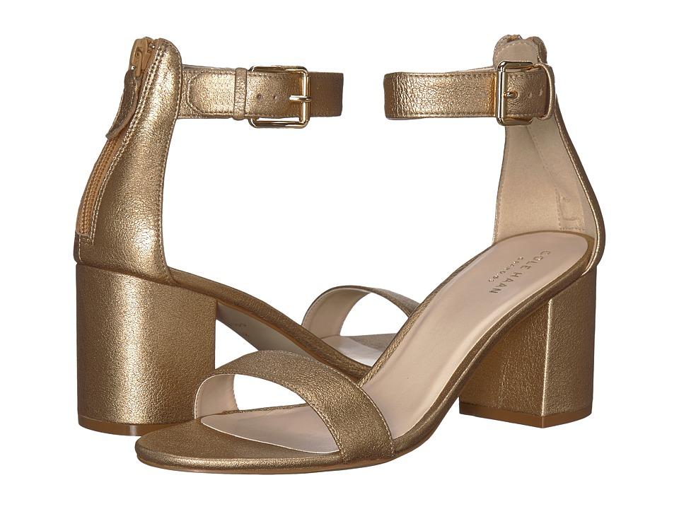 Cole Haan Clarette Sandal II (Soft Gold Leather) Women
