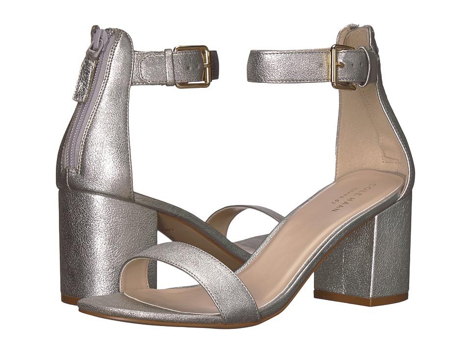 Cole Haan Clarette Sandal II (Silver Leather) Women