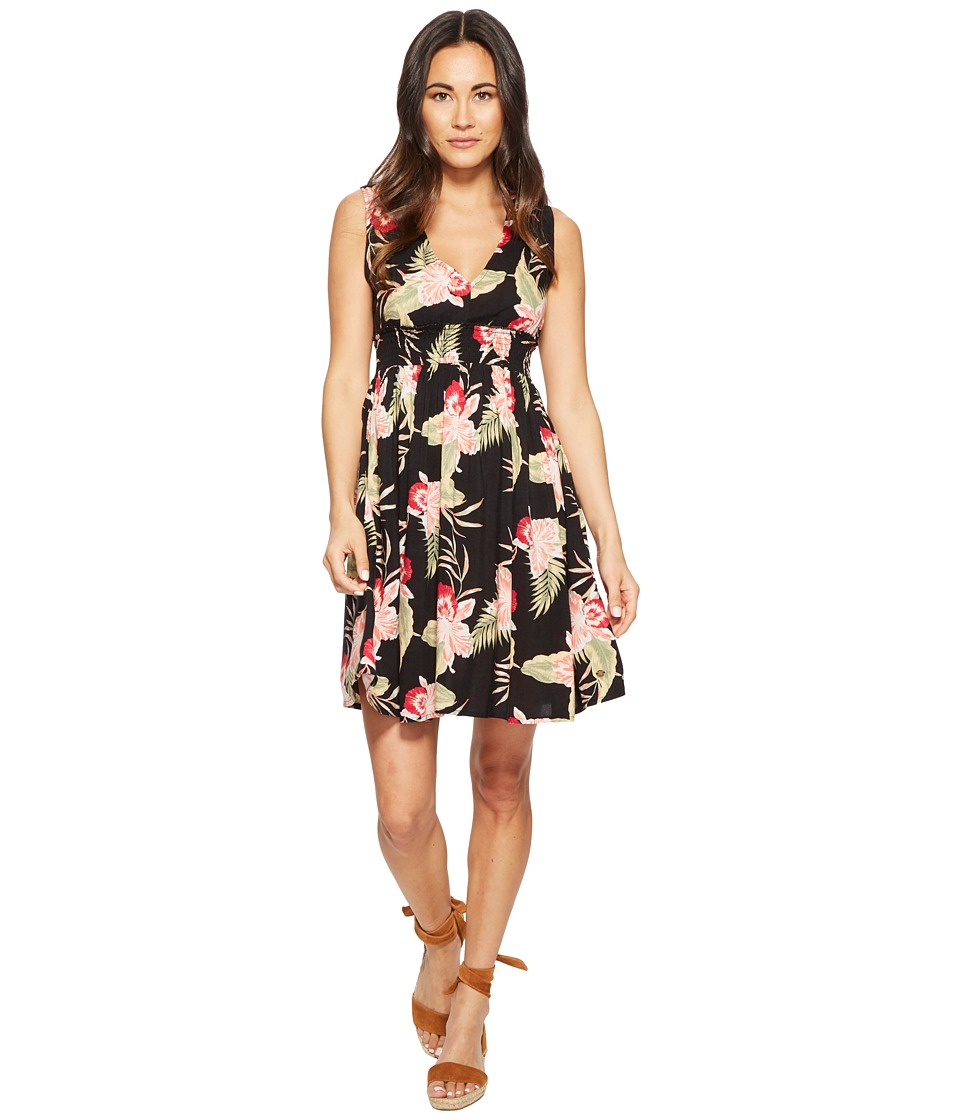 Roxy Angelic Grace Printed Dress (Anthracite Castaway Floral) Women