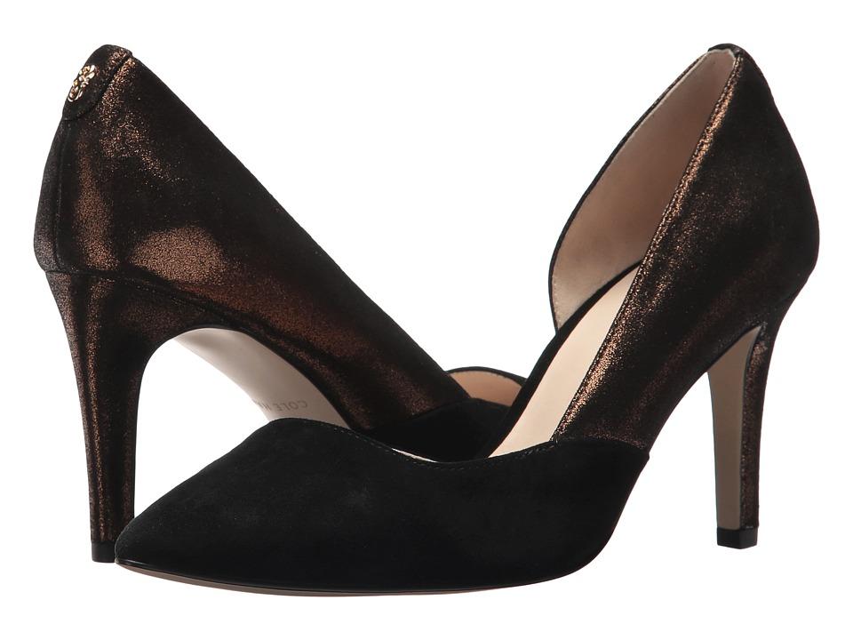 Cole Haan - Rendon Pump II (Bronze Shimmer Metallic/Black Suede) Women's Shoes