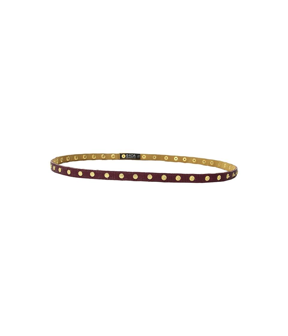ADA Collection Cala Belt (Burgundy Small Python) Women