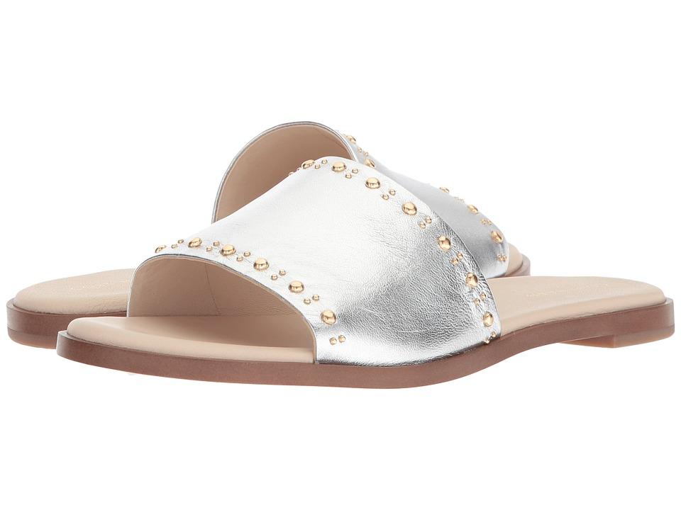 Cole Haan Anica Stud Slide Sandal (Argento Metallic) Women