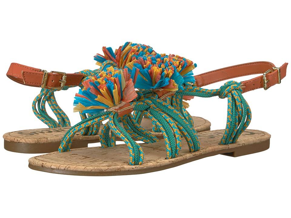 Circus by Sam Edelman Bice (Bermuda Blue/Sunglow Yellow/Jade Green Burnished Suede/Rope) Women