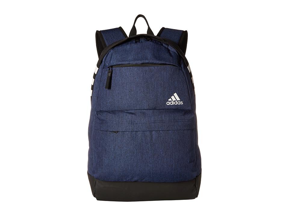 adidas Daybreak II Backpack (Navy Heather/Black) Backpack Bags