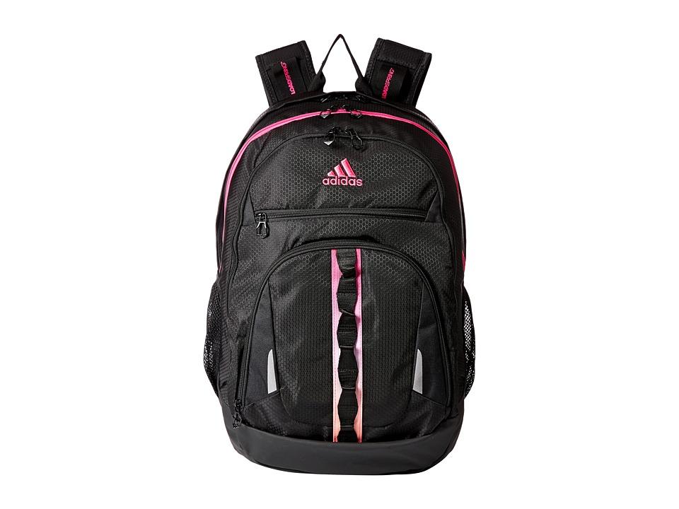adidas Prime IV Backpack (Black/Shock Pink/Clear Orange) Backpack Bags