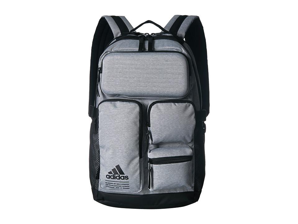 adidas All Roads Backpack (Heather Grey/Black) Backpack Bags