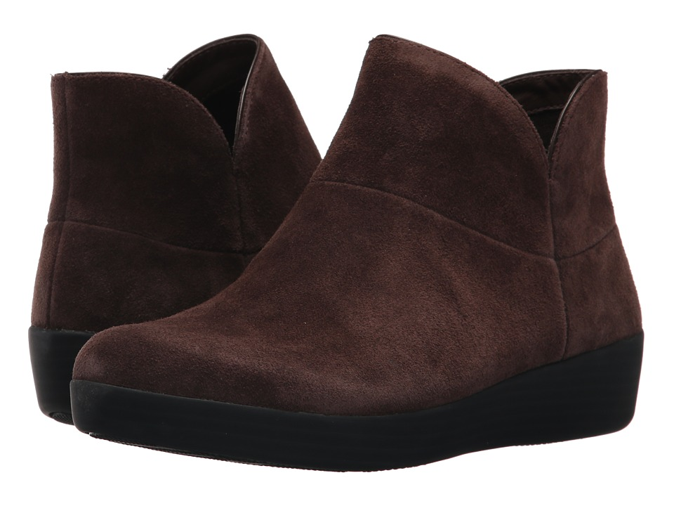 FitFlop Supermod Leather Ankle Boot II (Chocolate) Women