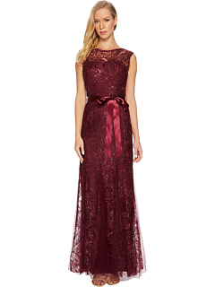 Long Sequin And Embroidered Gown by Adrianna Papell