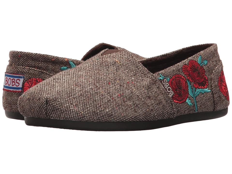 BOBS from SKECHERS Bobs Plush City Festival (Brown Red) Women