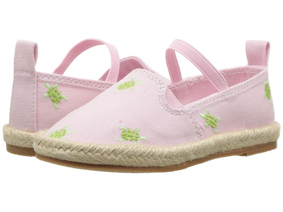 Polo Ralph Lauren Kids Beakon (Toddler) (Light Pink Canvas/Turtles) Girls Shoes