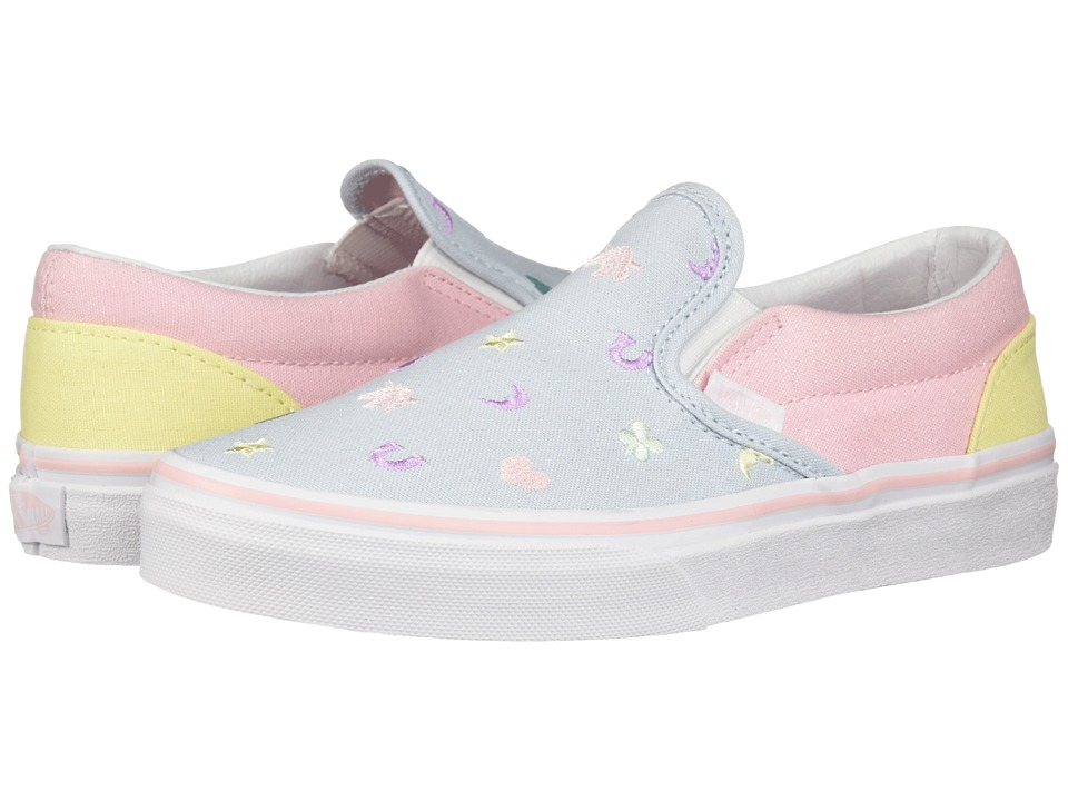Vans Kids Classic Slip-On (Little Kid/Big Kid) ((Charms) Embroidery/Multi) Girls Shoes