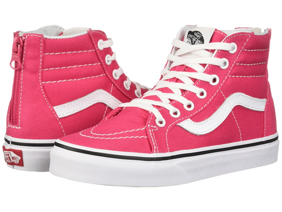 Vans Kids Sk8-Hi Zip (Little Kid/Big Kid) (Azalea/True White) Girls Shoes