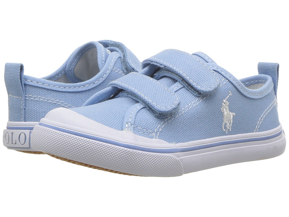 Polo Ralph Lauren Kids Karlen EZ (Toddler) (Elite Blue Canvas/White Pony  Player) Kid\u0027s Shoes