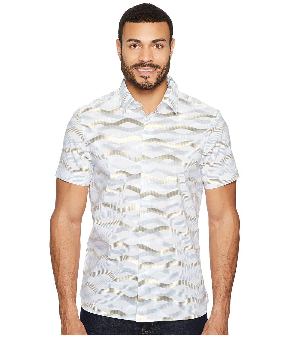 Perry Ellis Horizontal Wave Shirt (Bright White) Men