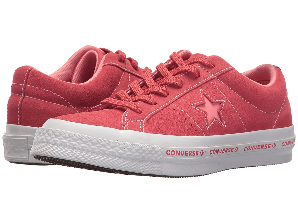 Converse Kids One Star Ox (Big Kid) (Paradise Pink/Geranium Pink/White) Kids Shoes