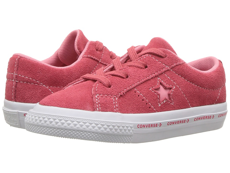 Converse Kids One Star Ox (Infant/Toddler) (Paradise Pink/Geranium Pink/White) Kids Shoes