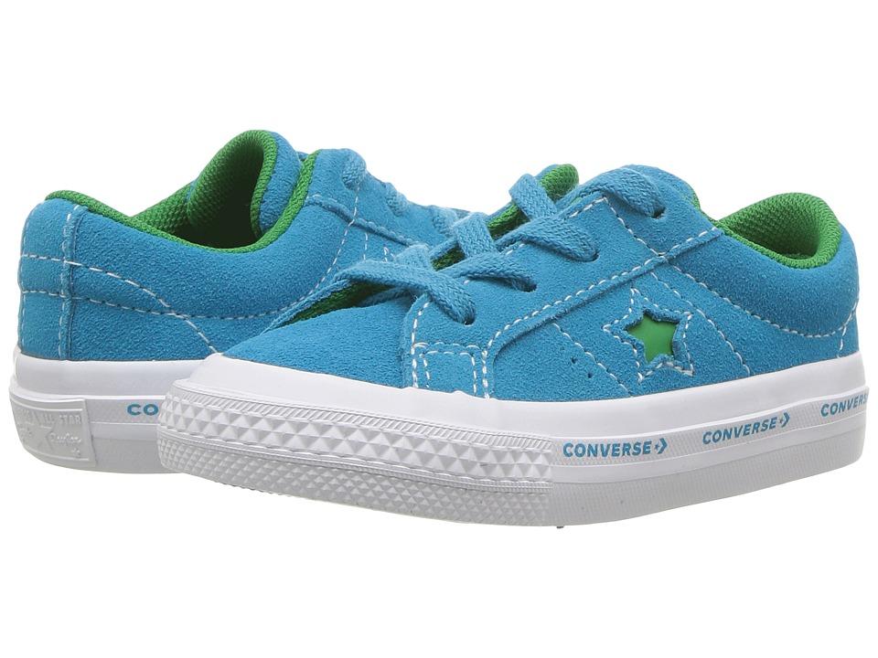 Converse Kids One Star Ox (Infant/Toddler) (Hawaiian Ocean/Jolly Green/White) Kids Shoes