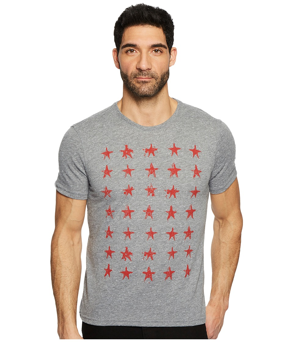 John Varvatos Star U.S.A. - Star Rows Graphic Tee K3547T4B (Hematite) Men's T Shirt