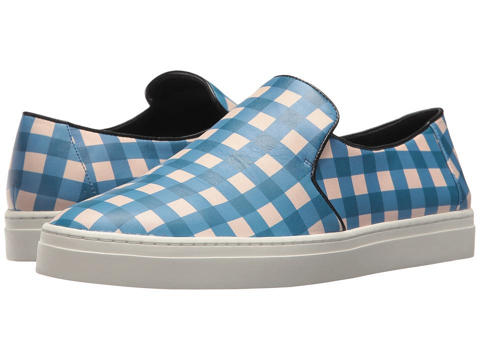 Diane von Furstenberg Budapest Slip-On Sneaker (Tile Blue/Black) Women