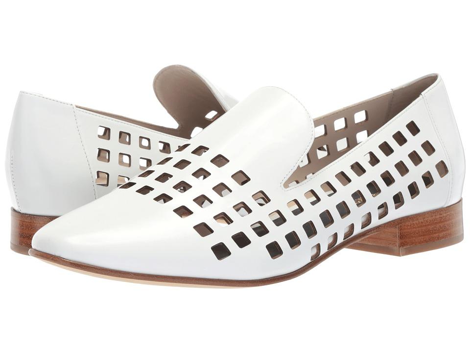 Diane von Furstenberg Linz Perforated Loafer (White) Women