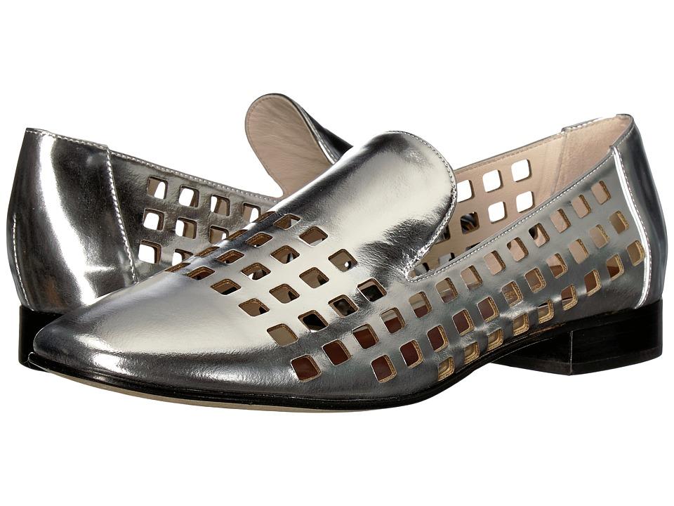 Diane von Furstenberg Linz Perforated Loafer (Silver) Women