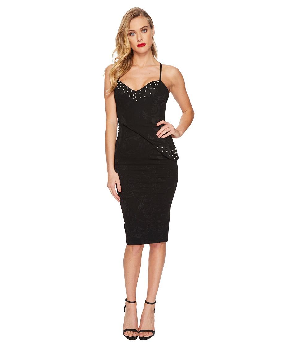 Unique Vintage Sweetheart Pearl Tallulah Wiggle Dress (Black) Women